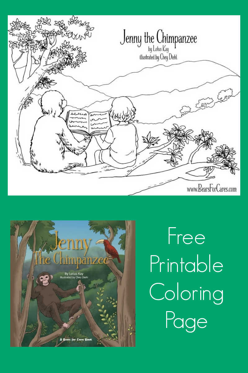 Download this free printable Jenny The Chimpanzee coloring page, so that your child can enjoy creating art featuring this beloved character.