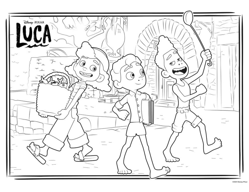 market coloring page