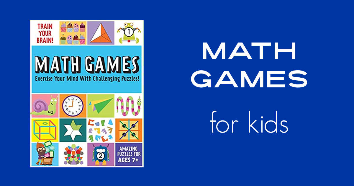 math games for kids activity book.