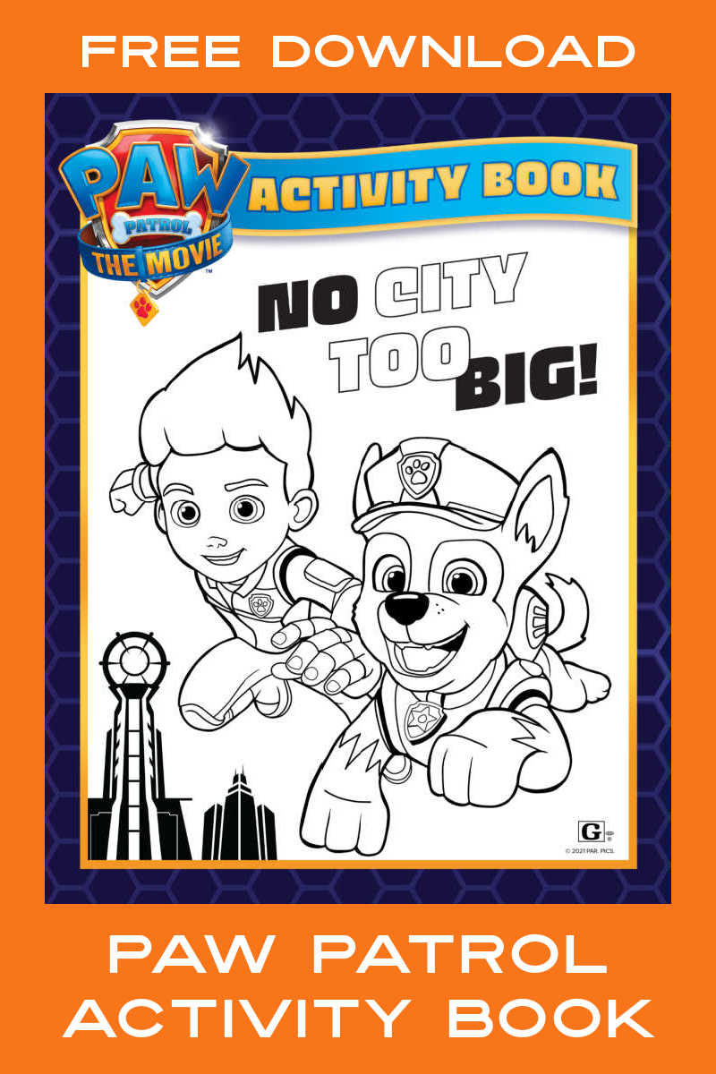 Your child can have fun with their favorite characters, when you download the free Paw Patrol printables activity book.