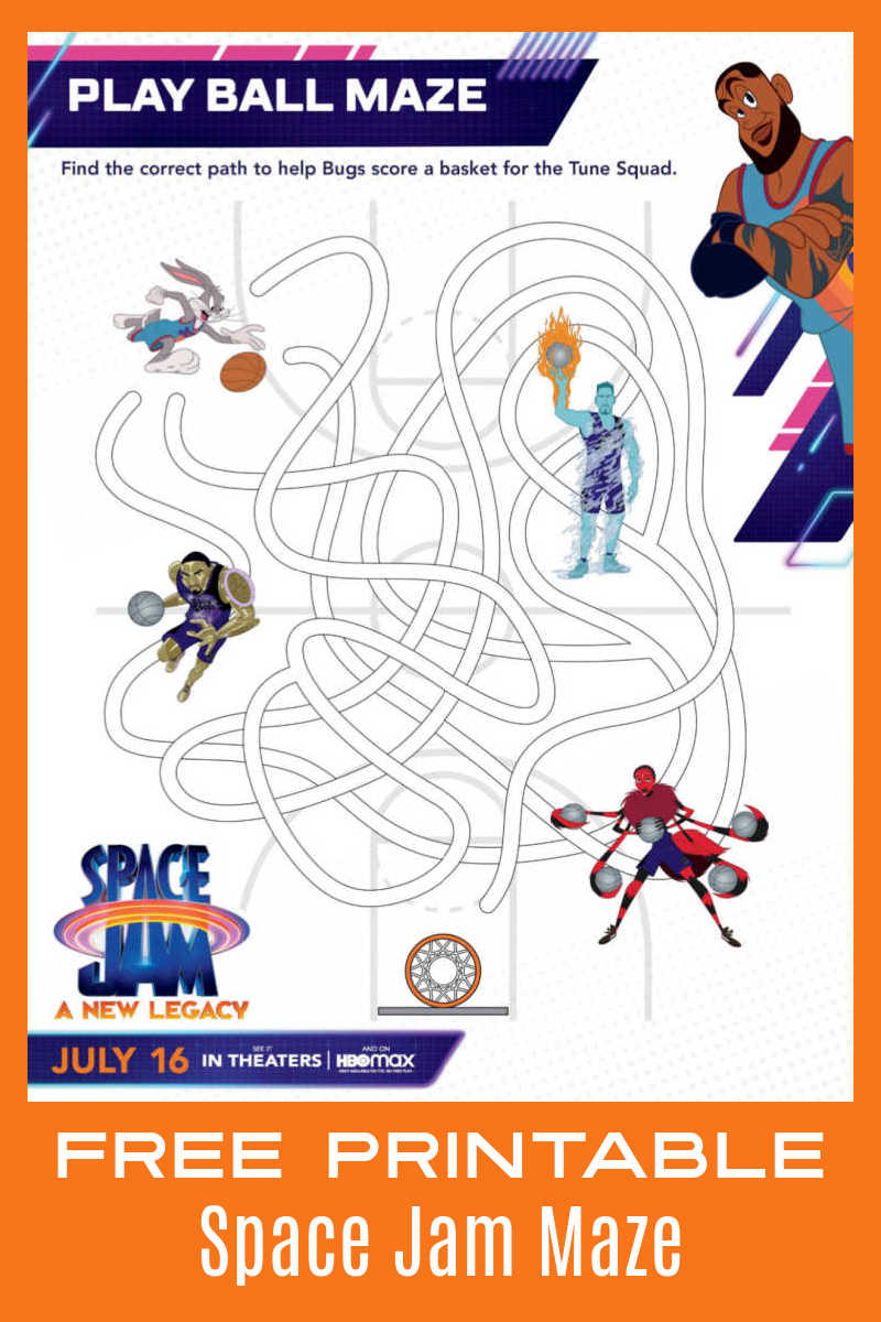 Your child will have a fun challenge, when they follow the curves to complete this Space Jam maze inspired by the new movie. #ad