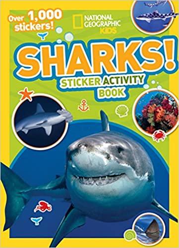 book - shark stickers