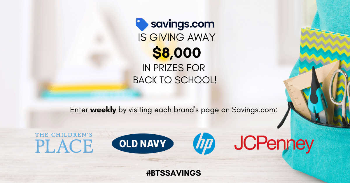 Everyone likes prizes, so you are definitely doing to want to enter the back to school gift cards giveaway each week.