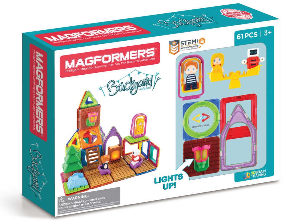 magformers backyard building set