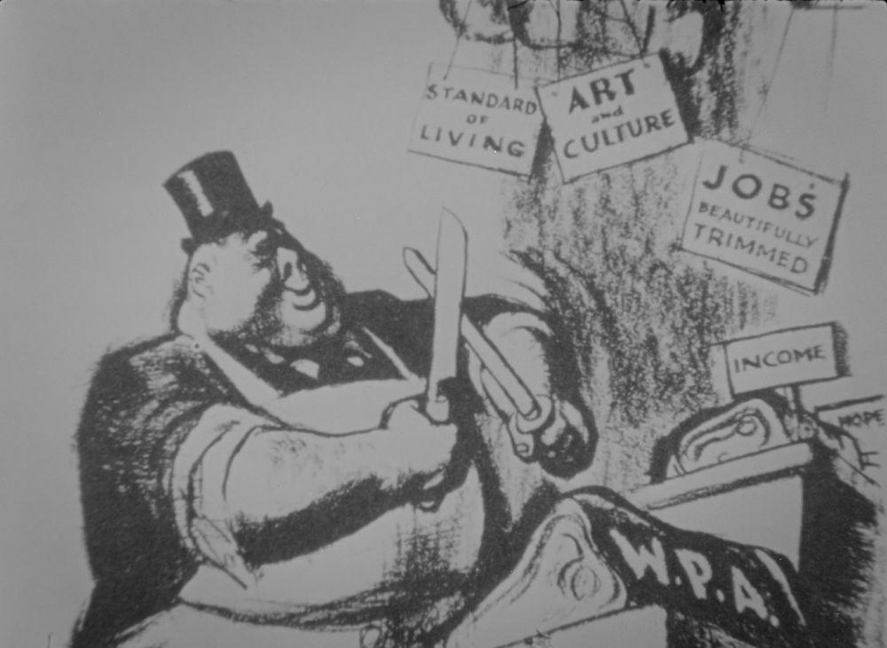 new deal political cartoon