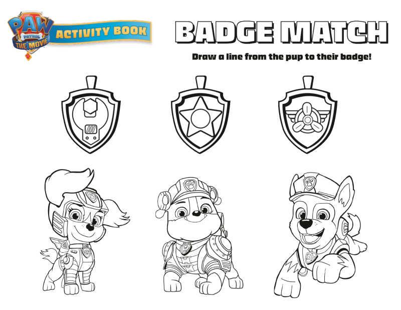 paw patrol badge match