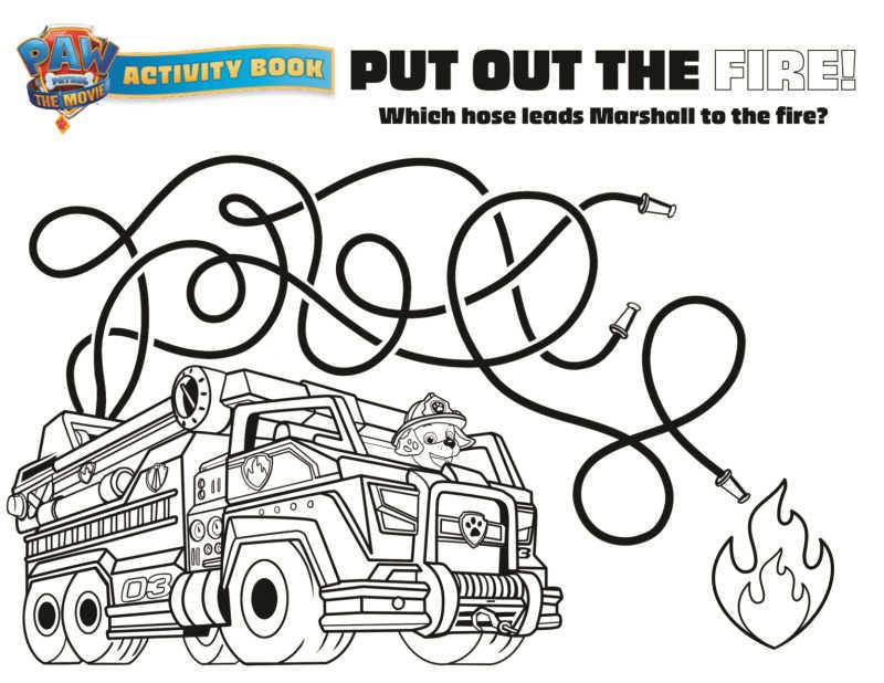 paw patrol fire hose puzzle
