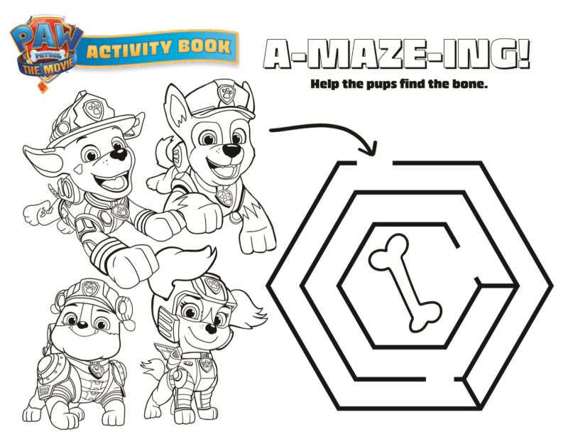 paw patrol maze