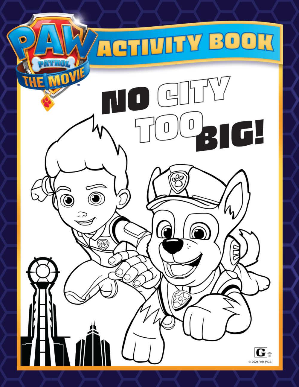printable paw patrol activity book