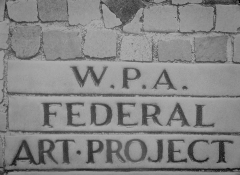 wpa federal art project sign