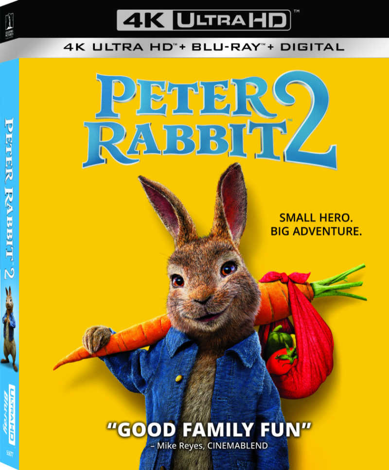 It's time for family movie night fun and adventure, since Peter Rabbit 2 is now available on blu-ray, DVD, 4k and digital.