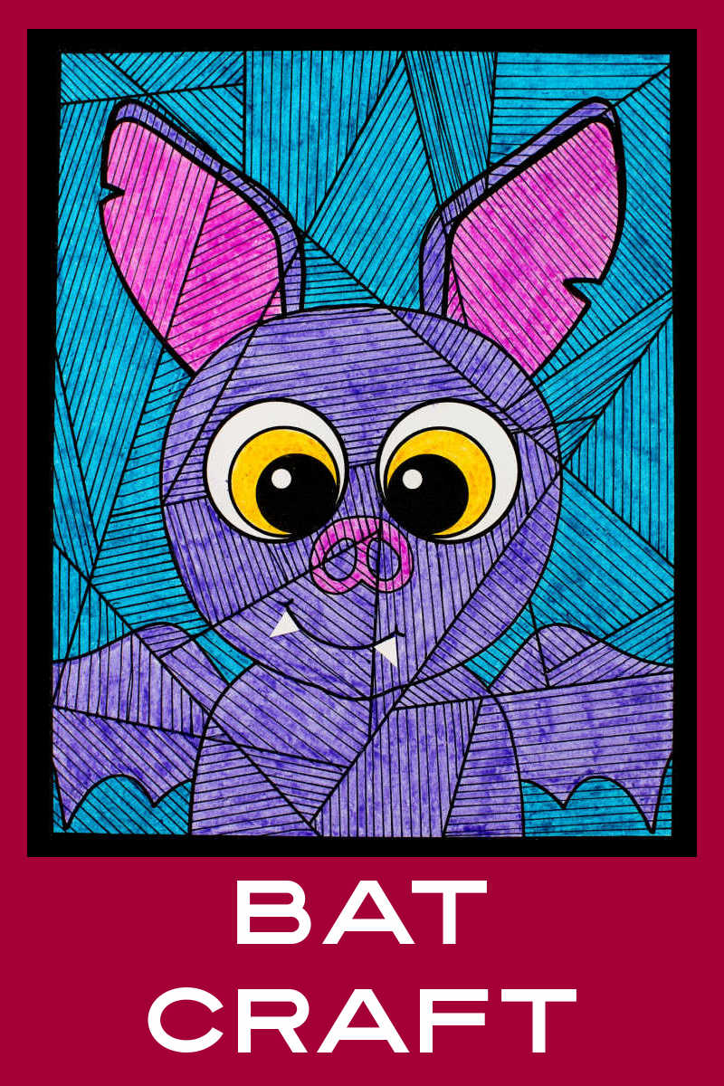 This Halloween bat coloring craft is super cute, so it is fun for the holiday and not at all scary for little ones.