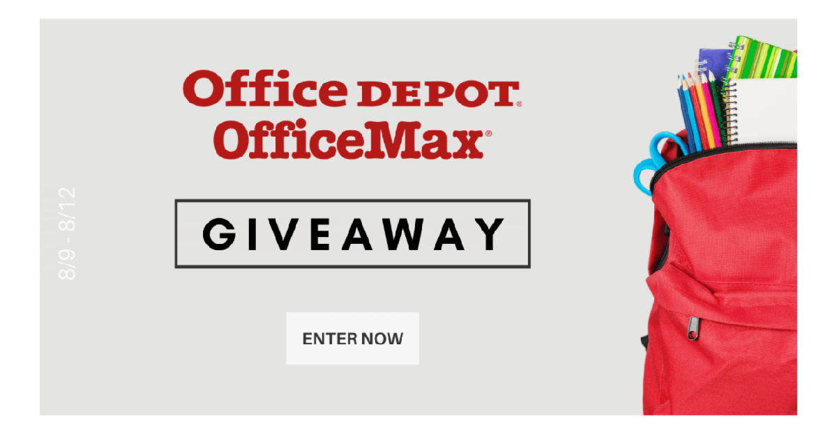 aug 2021 office depot gift card giveaway