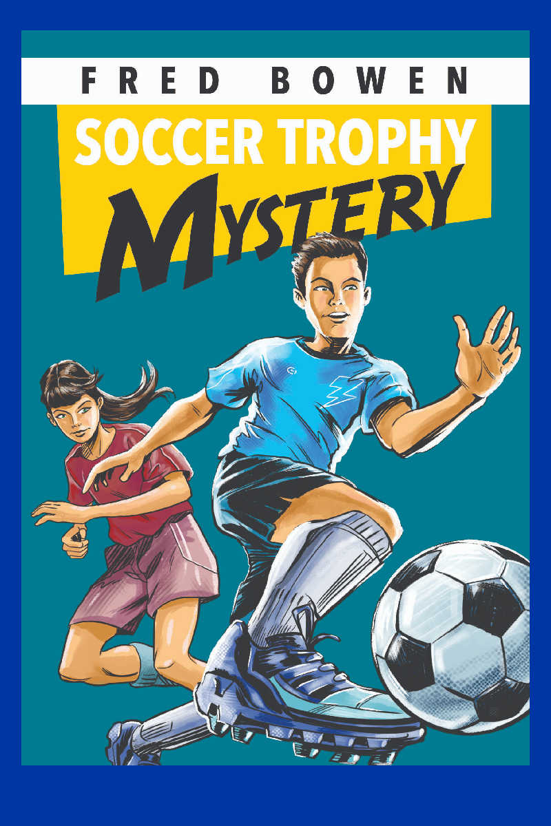 Kids who love sports and mysteries are going to love it, when they read Soccer Trophy Mystery from Fred Bowen.