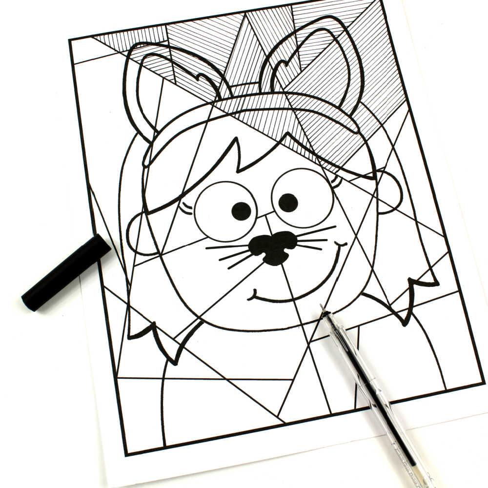 cat girl line study