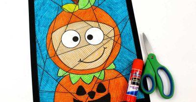 feature halloween pumpkin child craft
