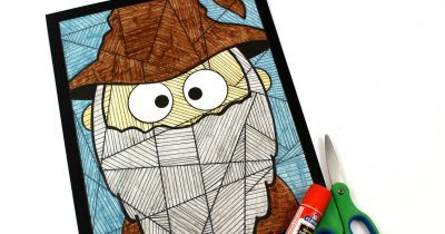 feature wizard coloring craft