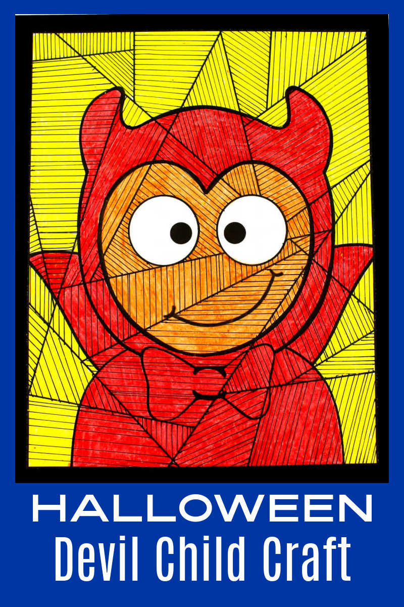 This Halloween devil child craft is great, when you have a kid who likes to dress up in a scary costume for trick or treating.