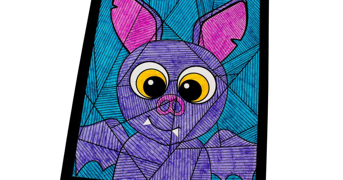 Bat Coloring Craft