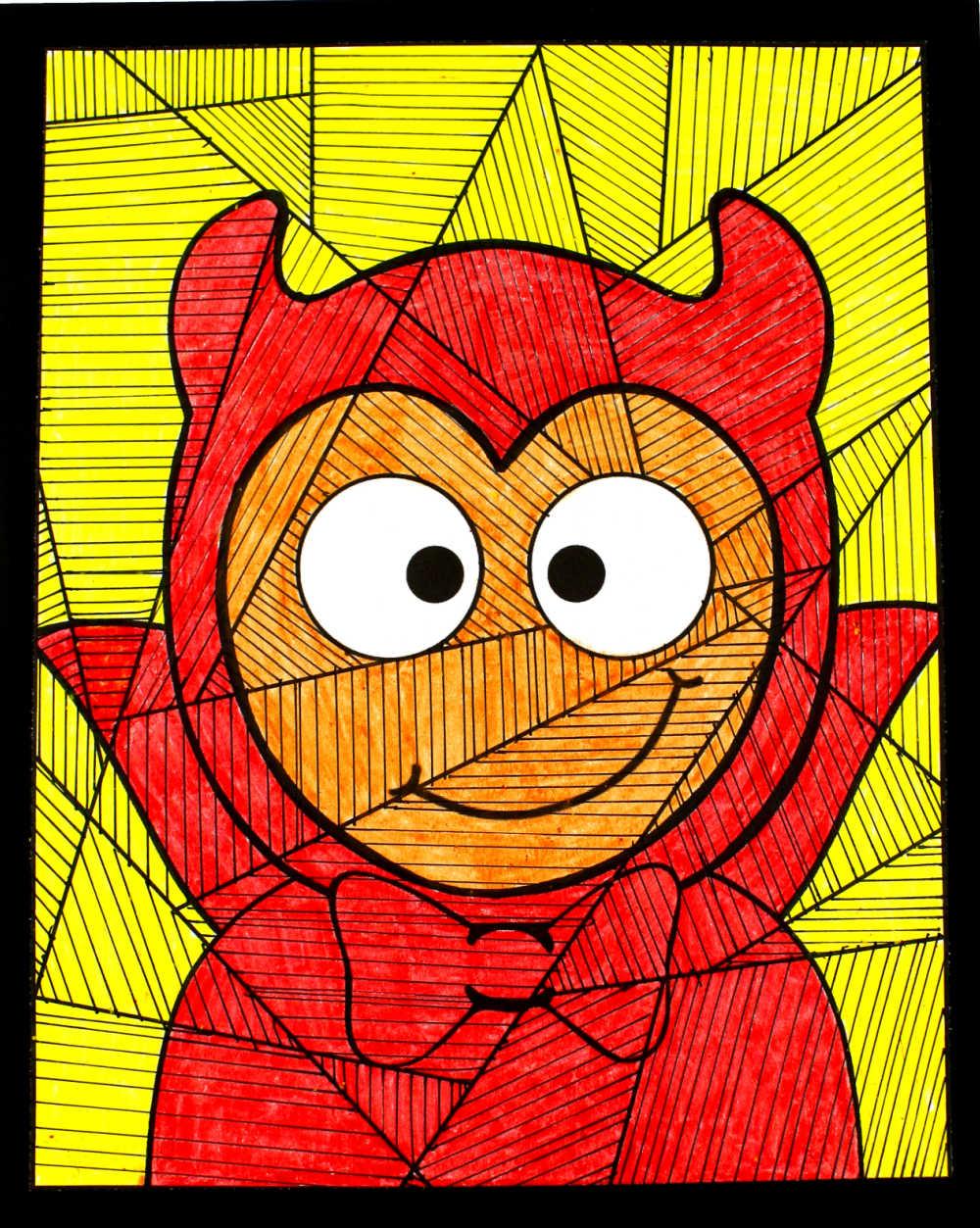 kid in devil costume