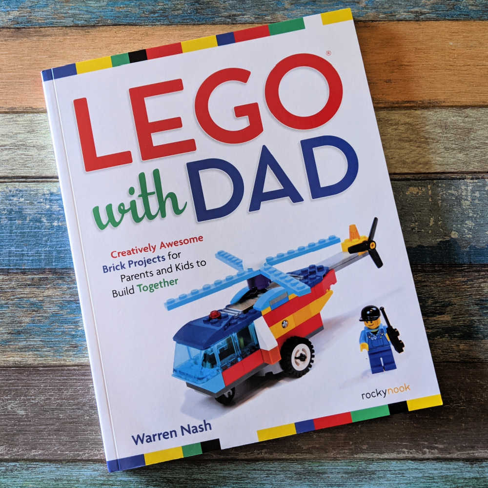LEGO with Dad is a fantastic project book for kids and adults who like to build, since we all know that LEGO are not just for children.