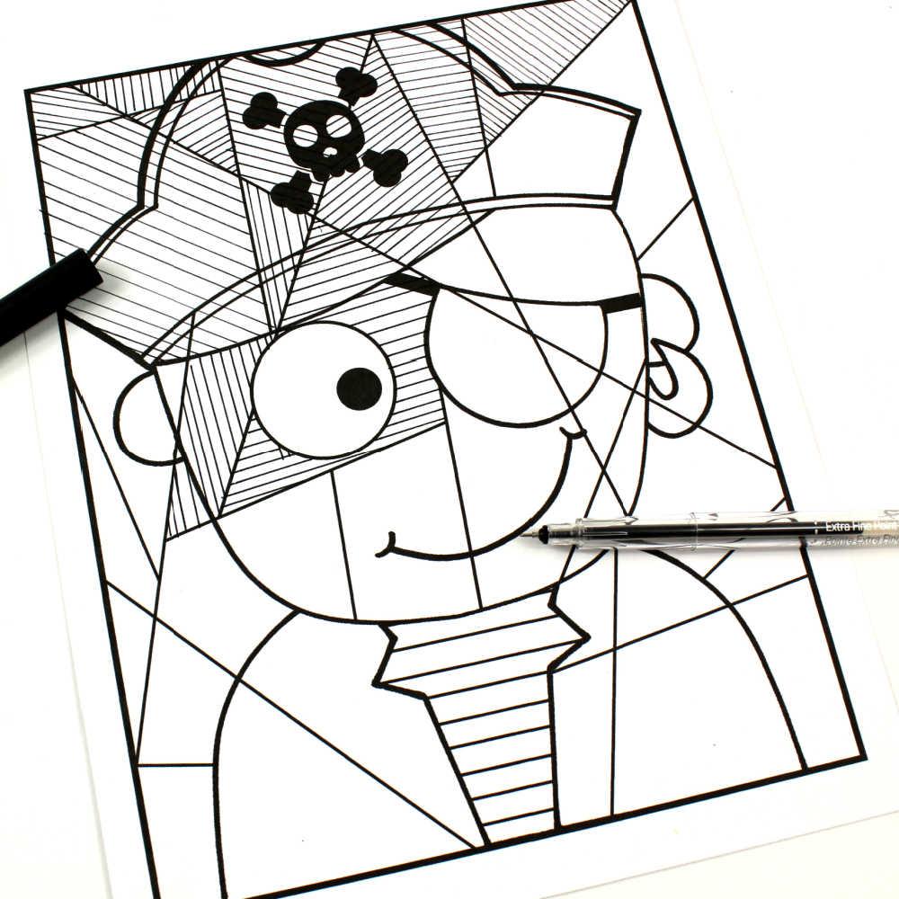 pirate line study art