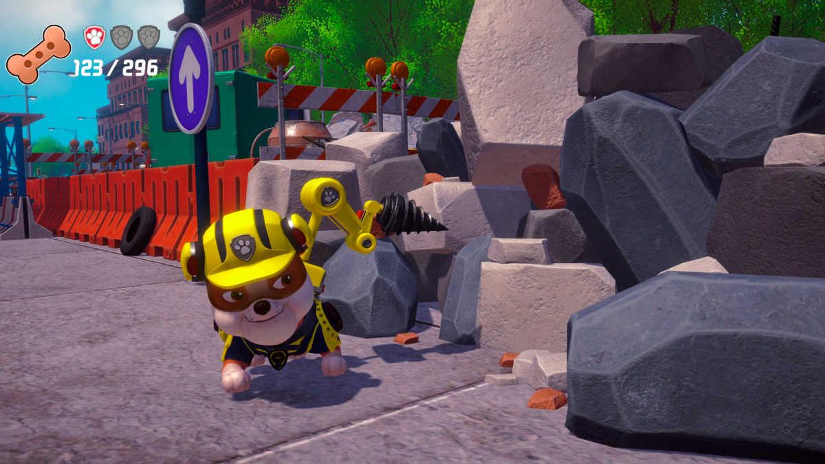 rubble paw patrol game scene
