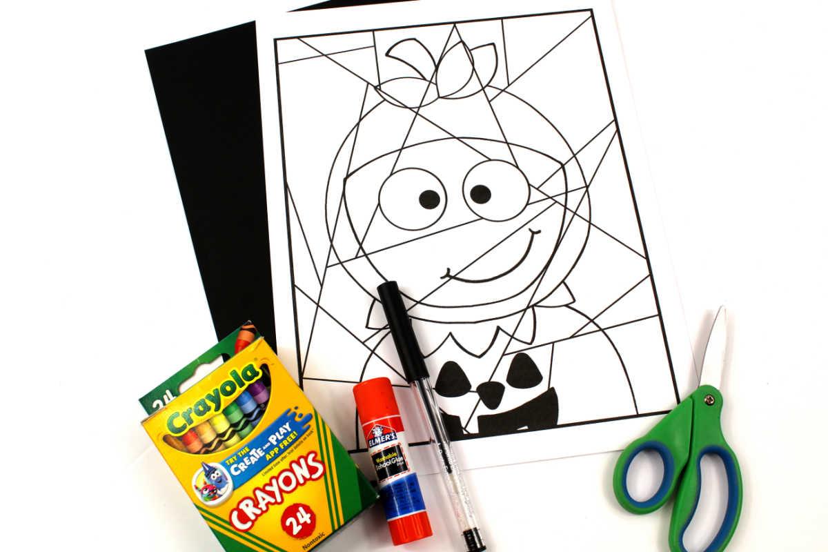 supplies for pumpkin child craft