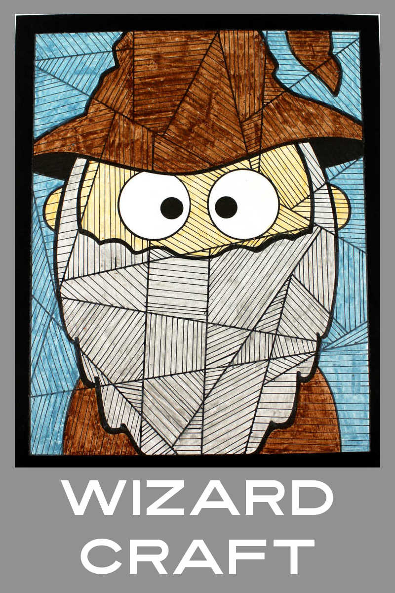 Kids will enjoy making this wizard coloring craft, when they celebrate Halloween or for a wizard party or family movie night.