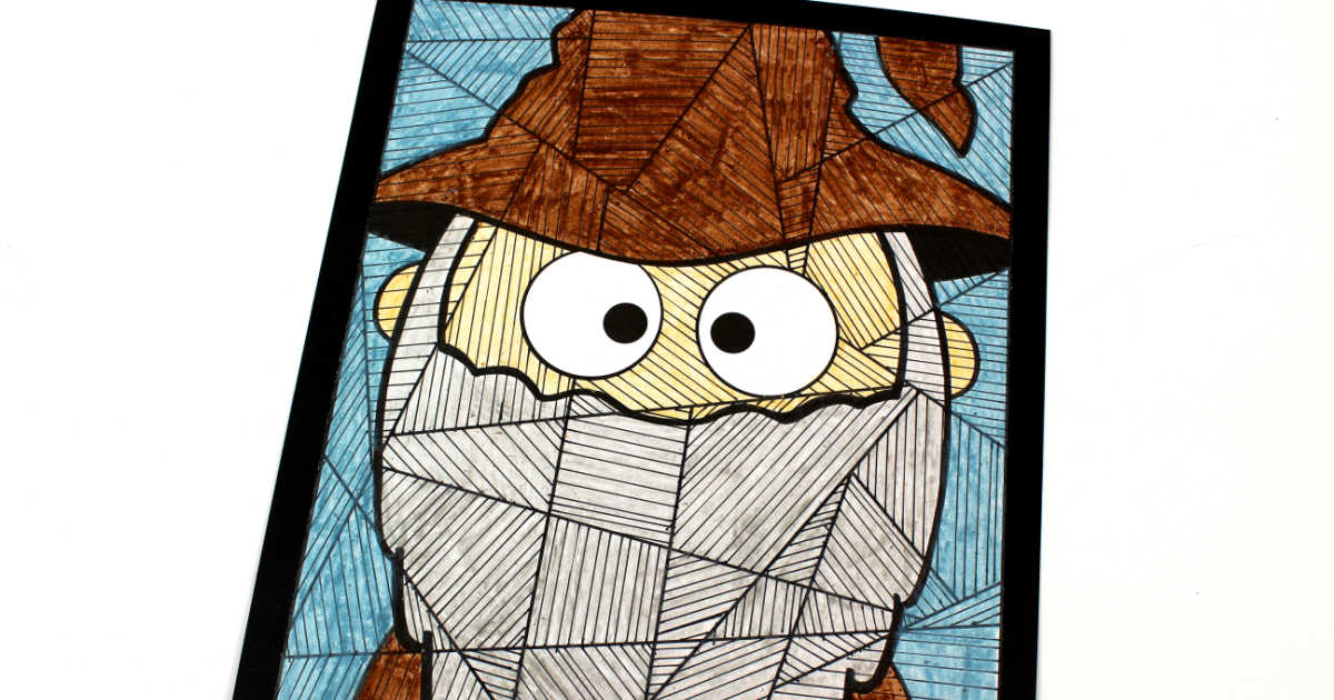 wizard coloring craft