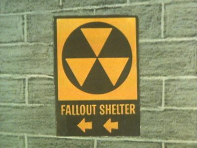 Fallout Shelter Sign Nuclear Nightmares