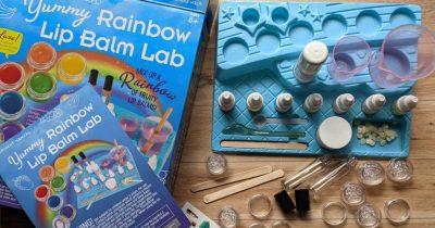 STEM rainbow lip balm lab kit