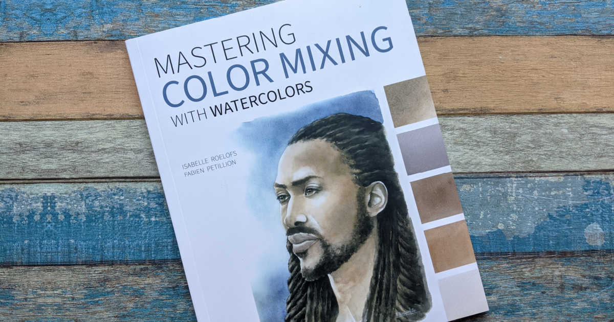 art book color mixing with watercolors