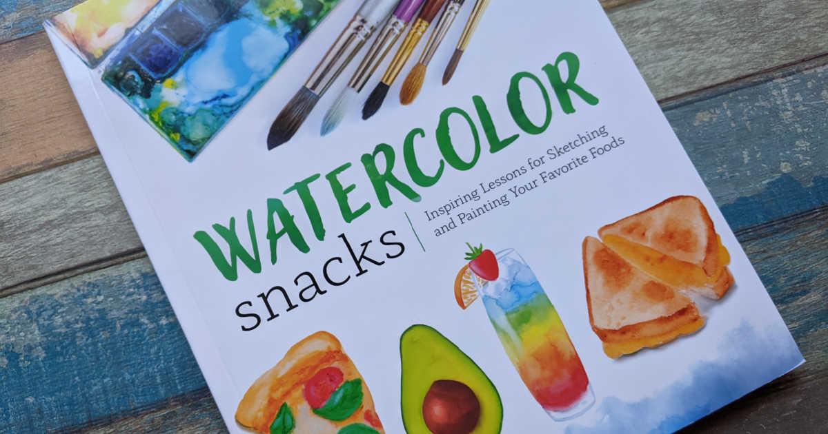 art instruction book watercolor snacks