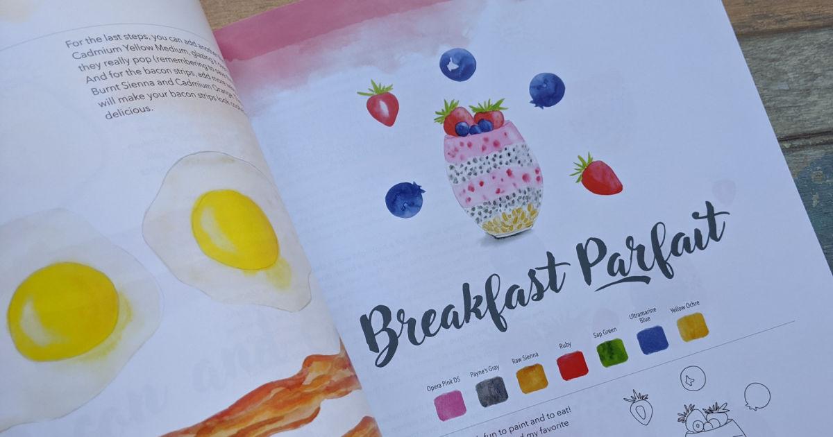 breakfast parfait watercolor