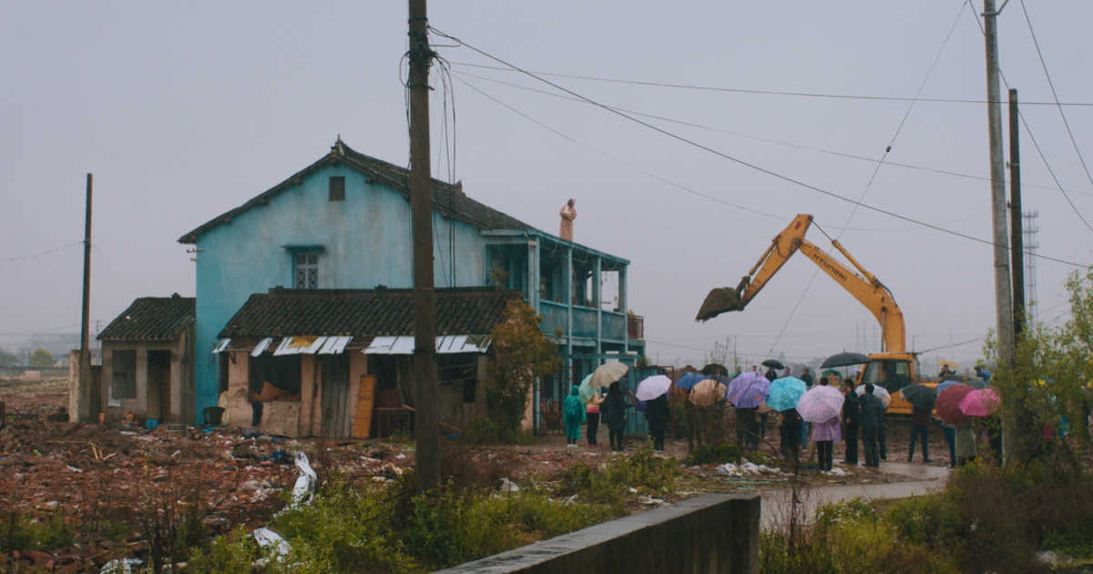 bulldozer at chinese house