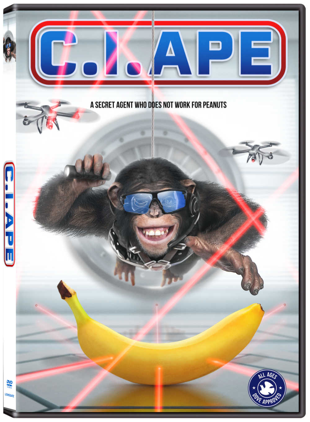 Watch the family friendly C I Ape movie, when you are ready to be entertained by a cute, hilarious and brave talking chimpanzee.