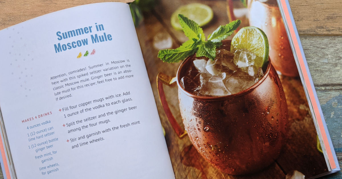 moscow mule with hard seltzer