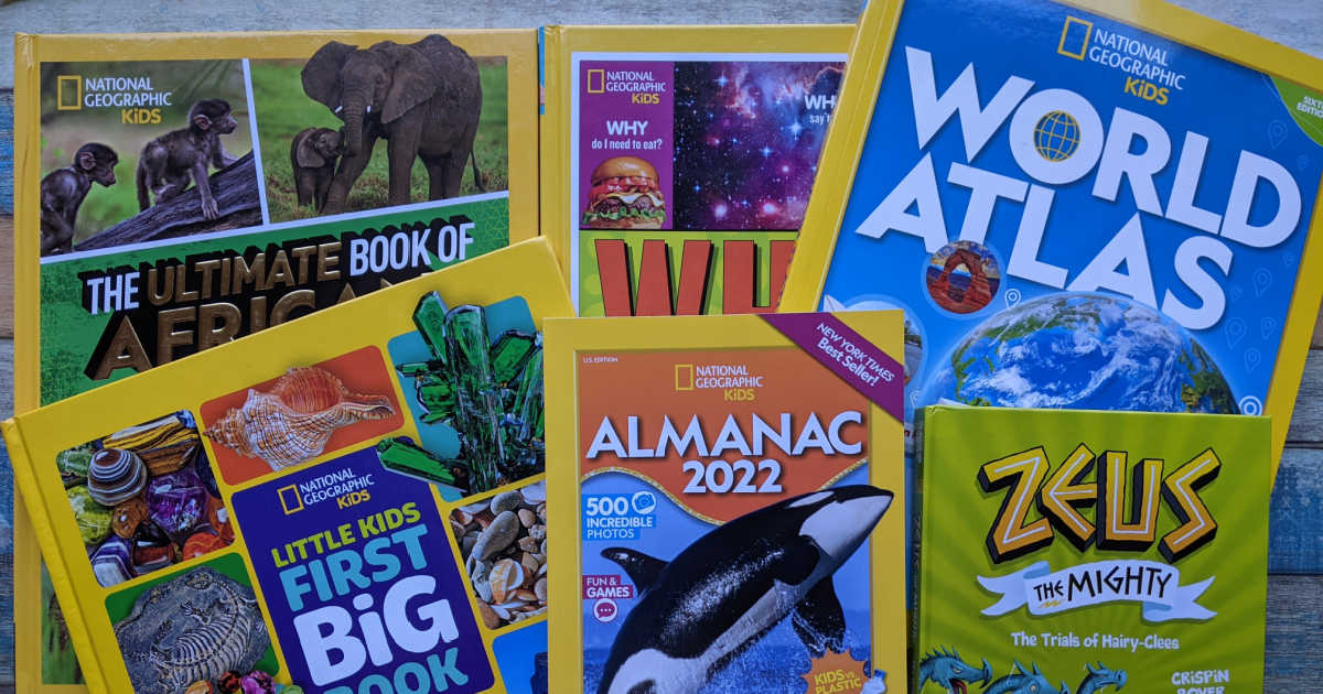 pile of nat geo fall kids books