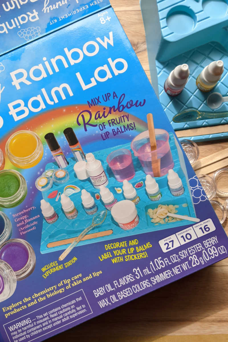 Science is fun and practical, so your kids will enjoy the hands on chemistry and biology activities with the Rainbow Lip Balm Lab.