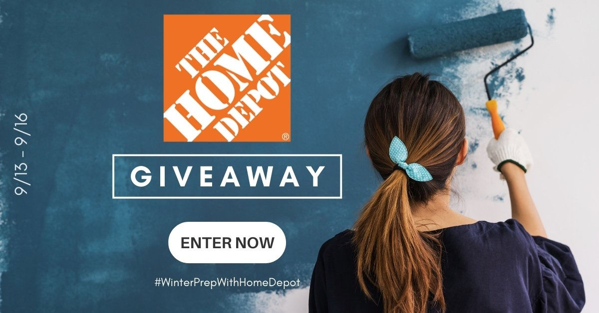 I'm sure all of us would enjoy a $250 Home Depot gift card, so enter this giveaway for a chance to win one of 4 great prizes today.