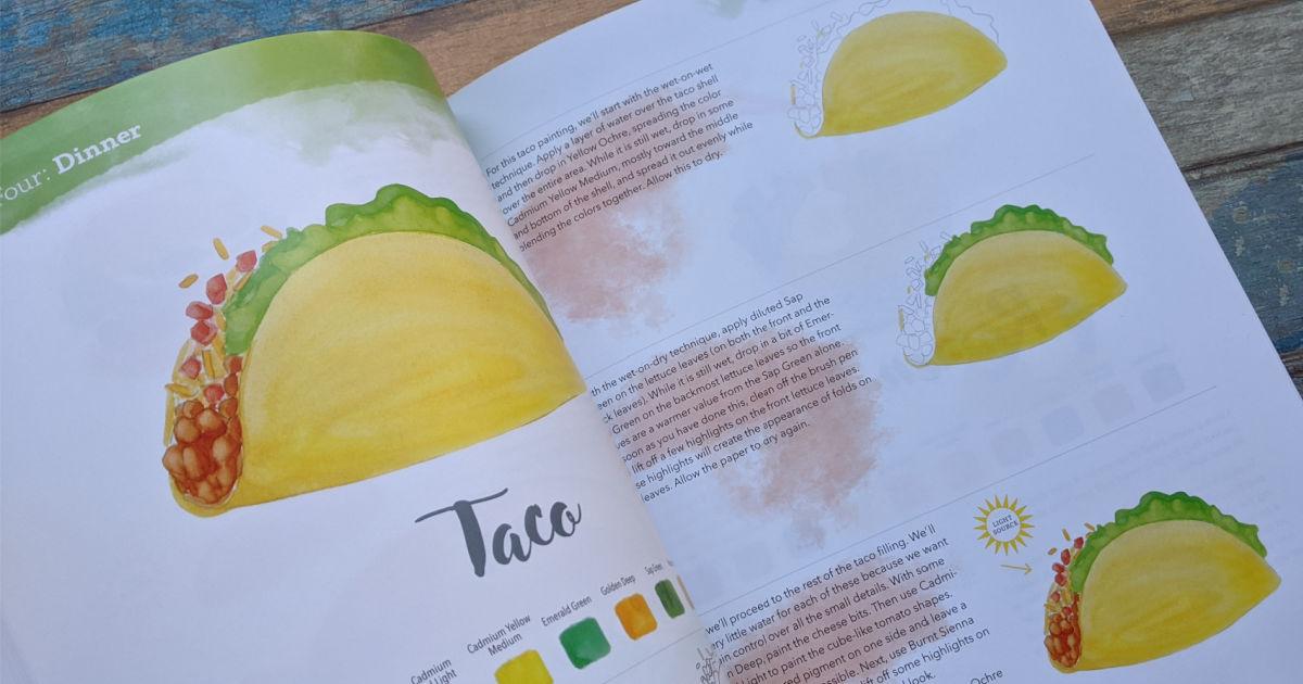 taco watercolor instructions