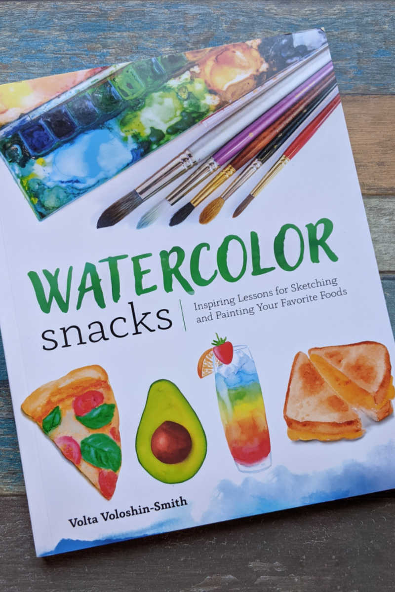 Watercolor Snacks is a fun how-to art book, so you can enjoy learning new techniques for drawing and painting food.