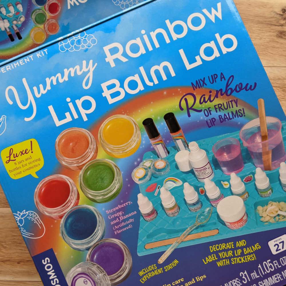 yummy rainbow lip balm lab