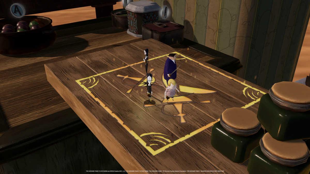 addams family game scene