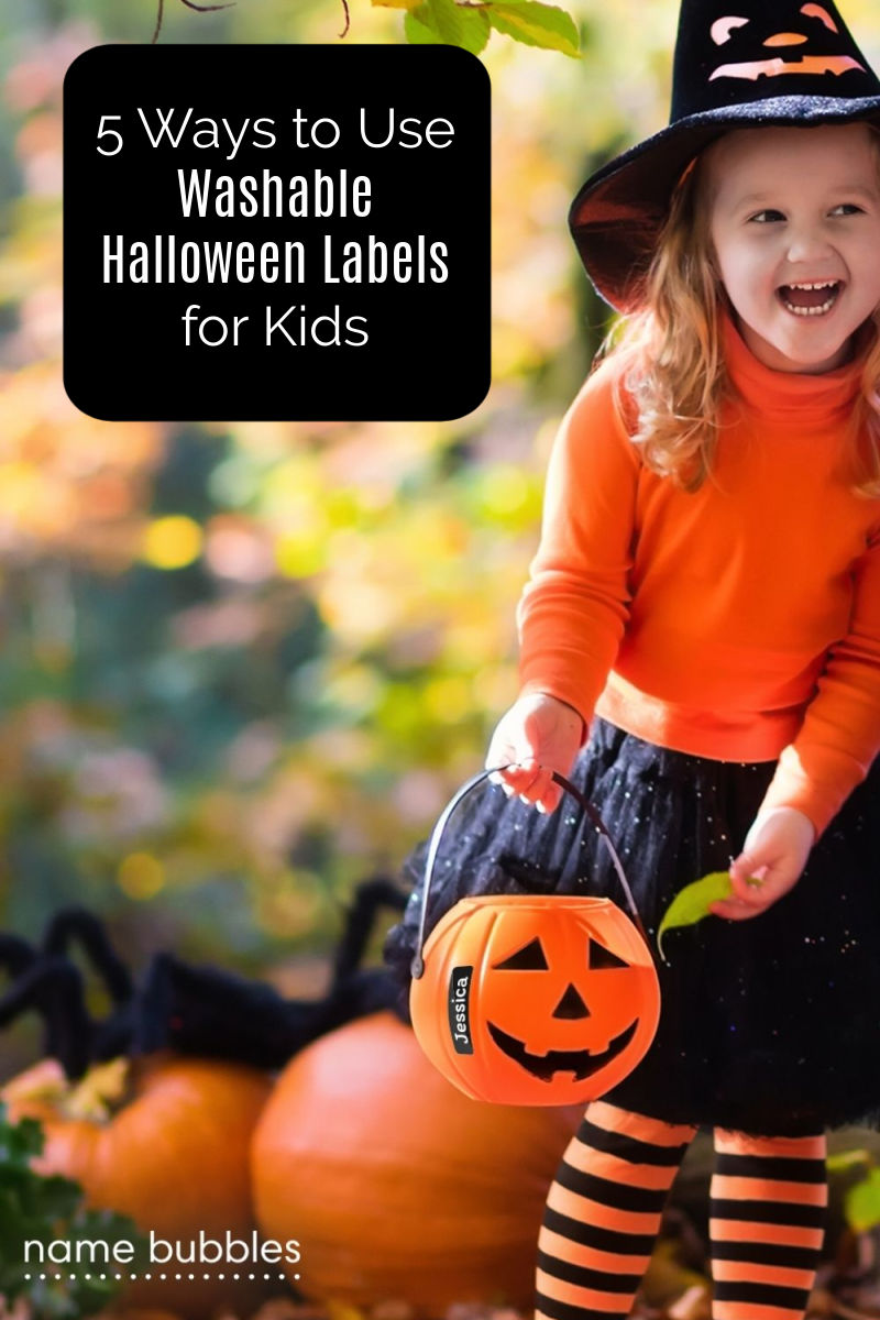 Learn how to use custom washable Halloween labels for kids, so you can keep track of costumes and more as you celebrate this fun holiday.