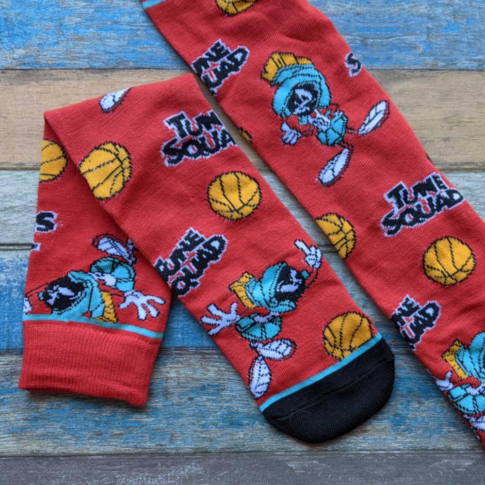 red space jam socks