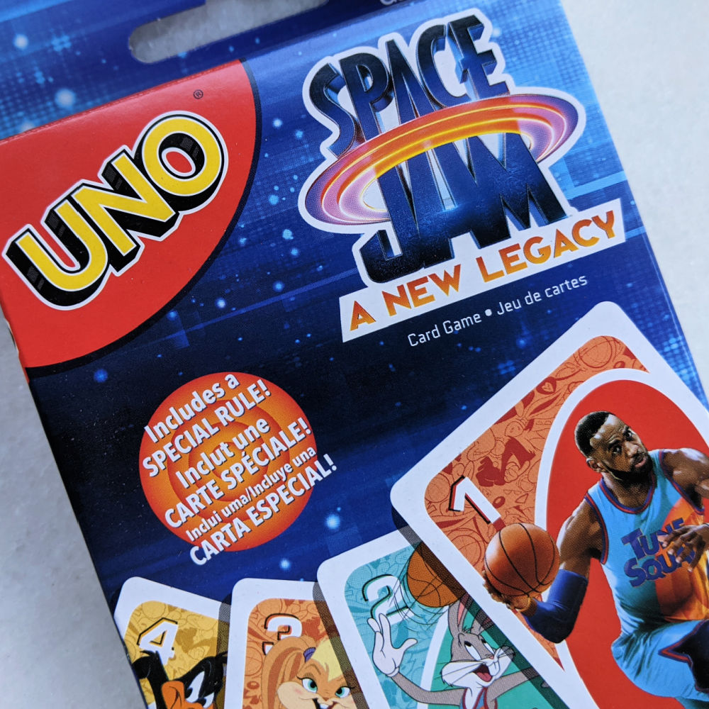 space jam uno card game
